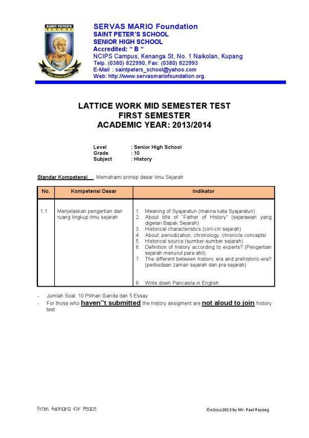 Grade 10 SPS