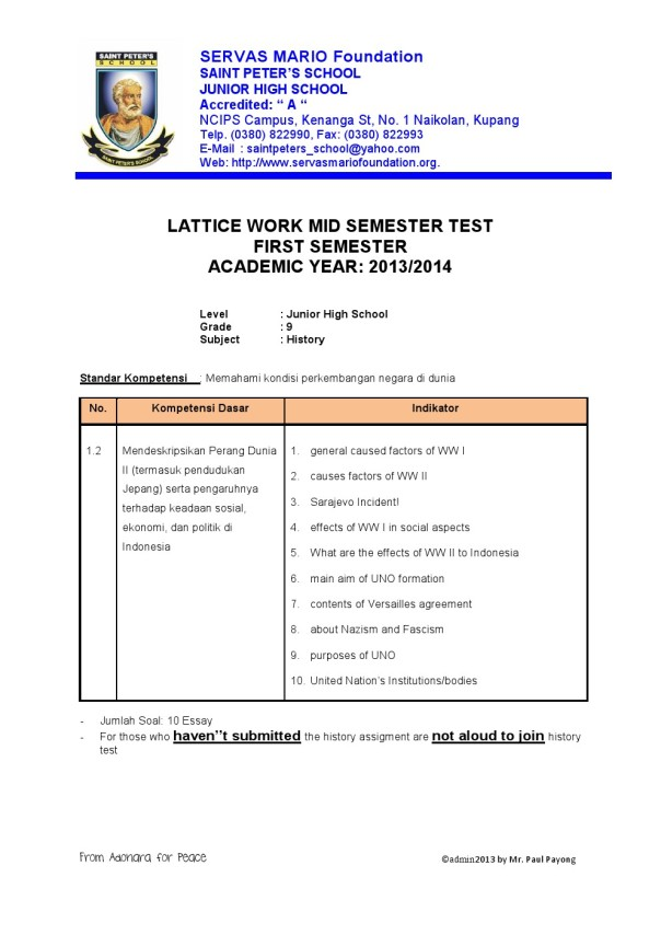 Grade 9 SPS
